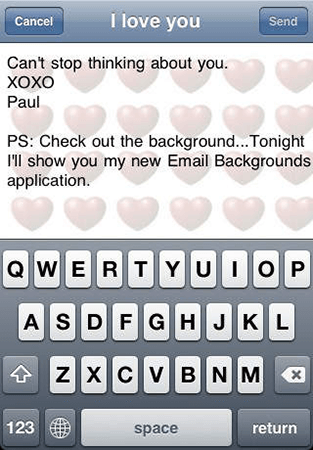 email backgrounds
