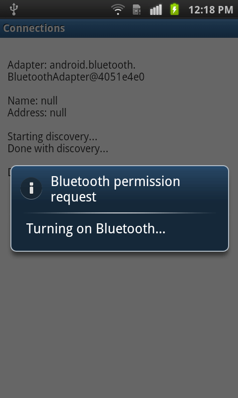 Bluetooth Connection Demo