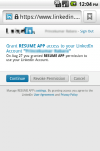 android linkedin connection