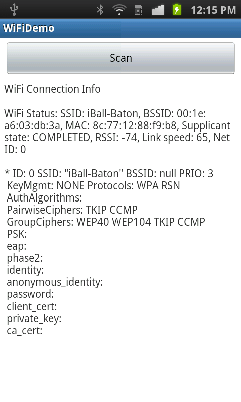 Wi-Fi Connection Demo
