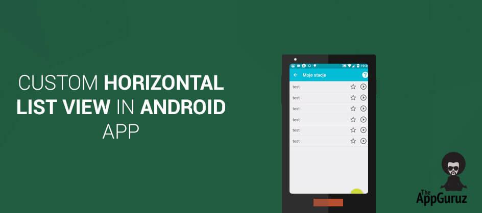 Custom HorizontalListView in Android App