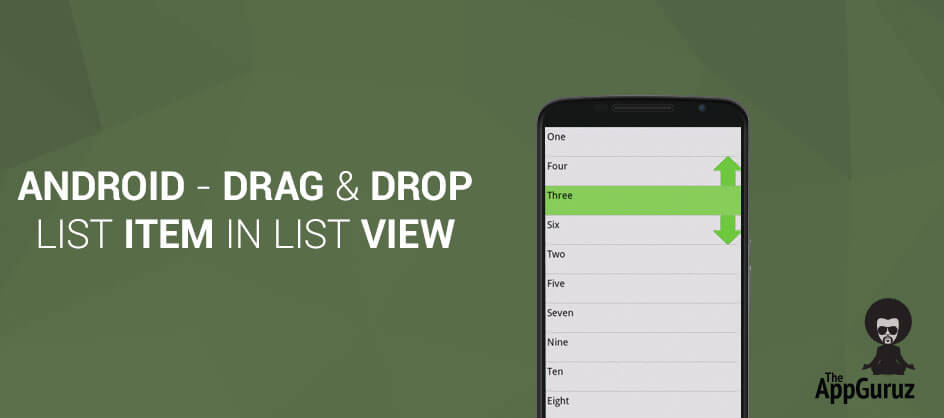 drag and drop list item in list view