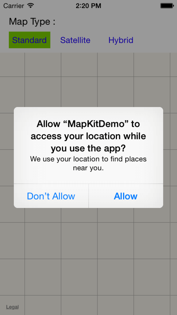 MapKit for User Location in iOS