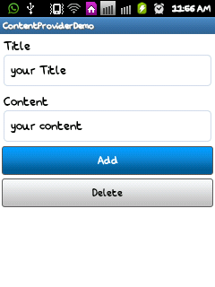 Custom Content Provider in Android App Tutorial