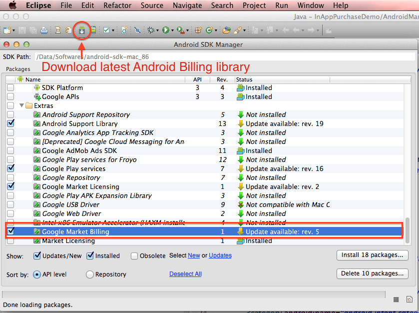 download latest android billing library
