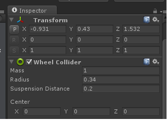 inspector wheel colliders