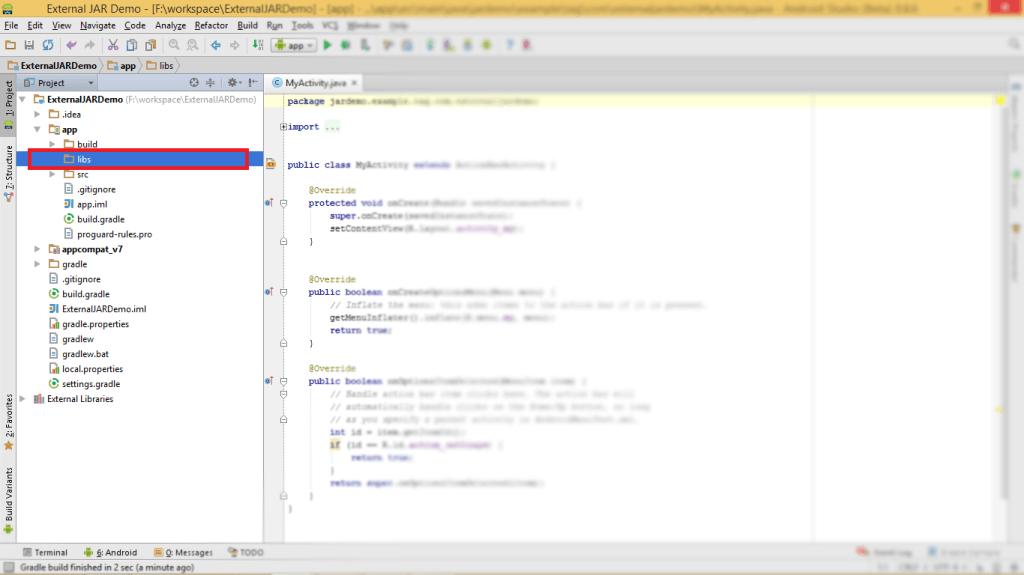 External JAR as Dependency in Android Studio