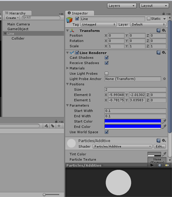 How to add collider to Line Renderer in Unity