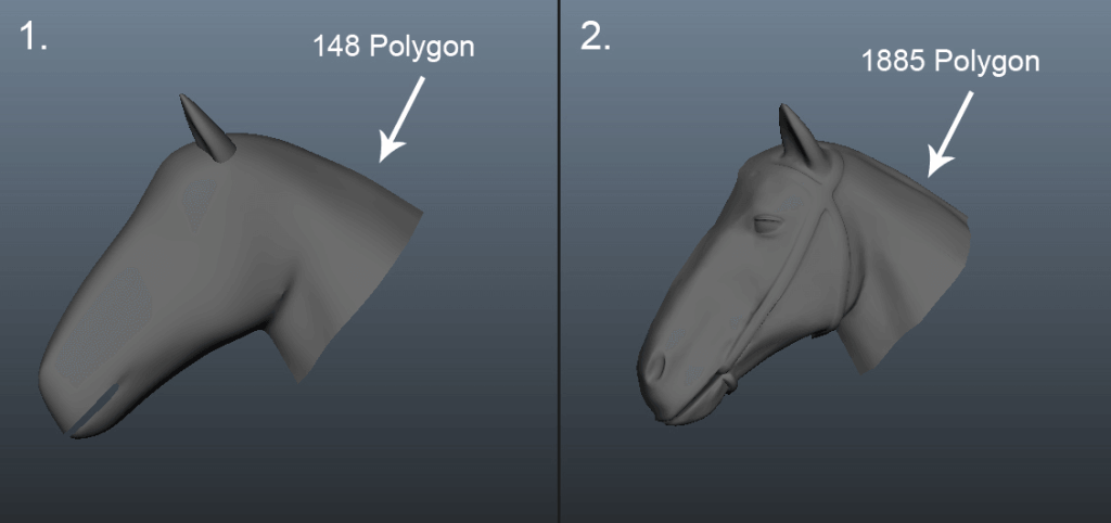 low-poly-and-high-poly-model
