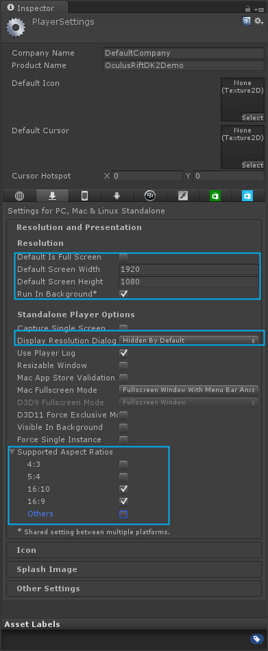 player-settings