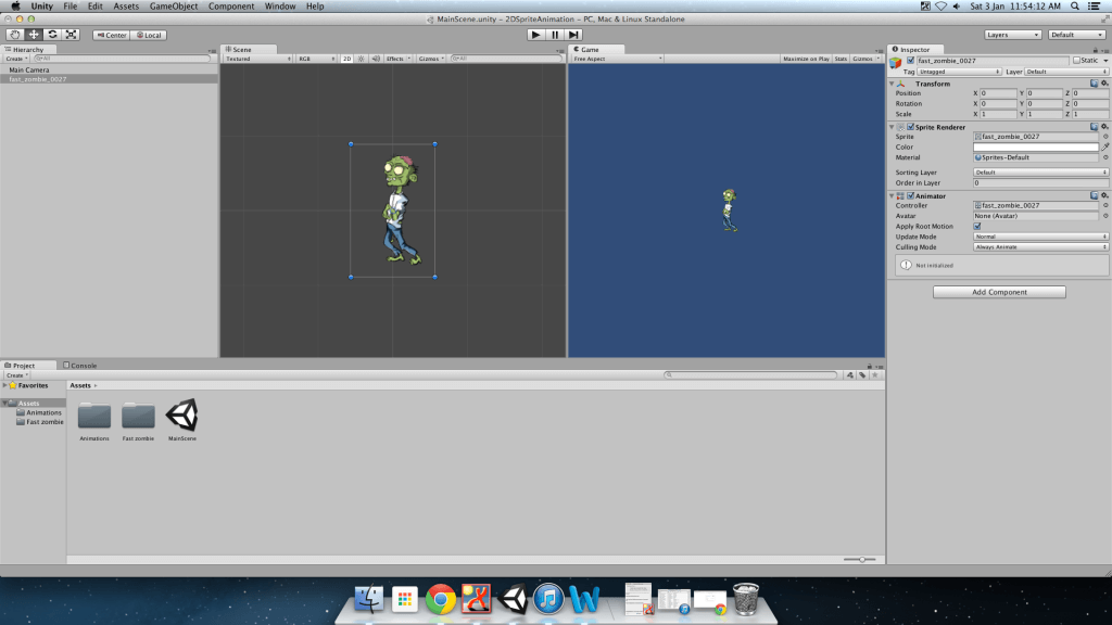 Creating 2D Animated Sprites Using Unity2D