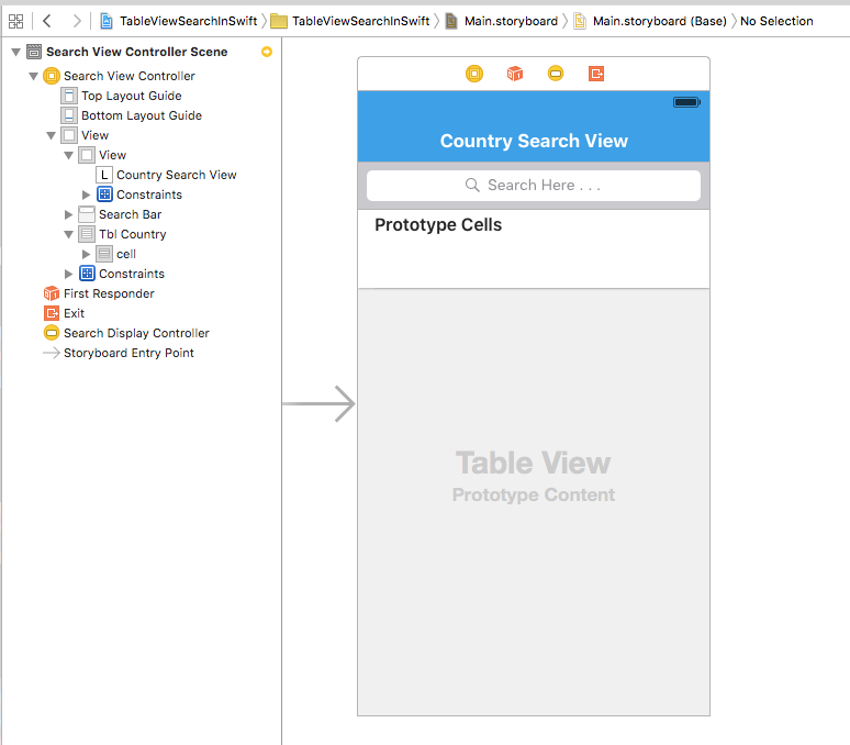 TableView Search in Swift
