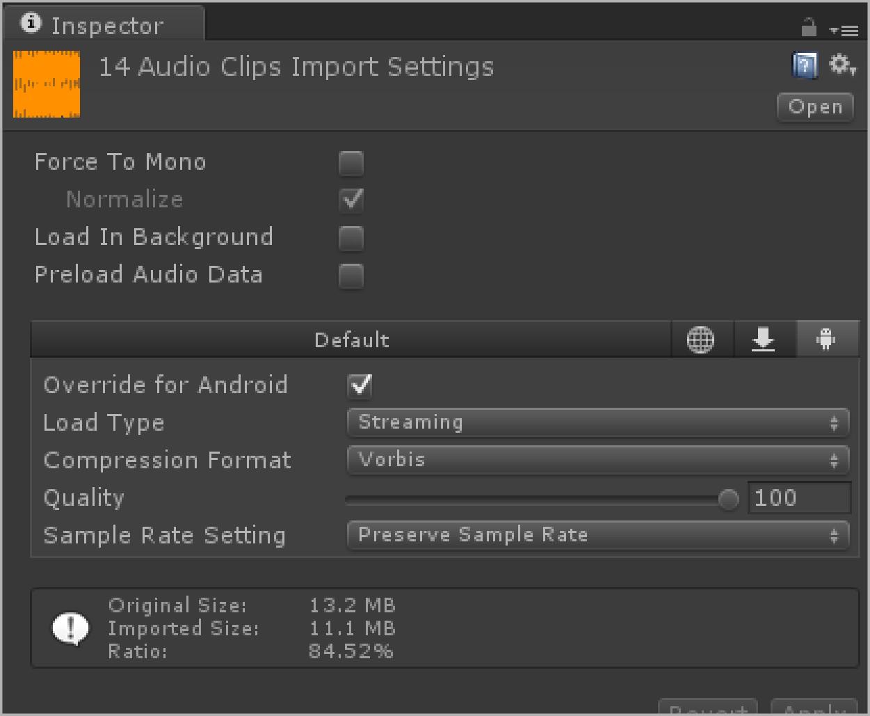 Audio Clip Settings