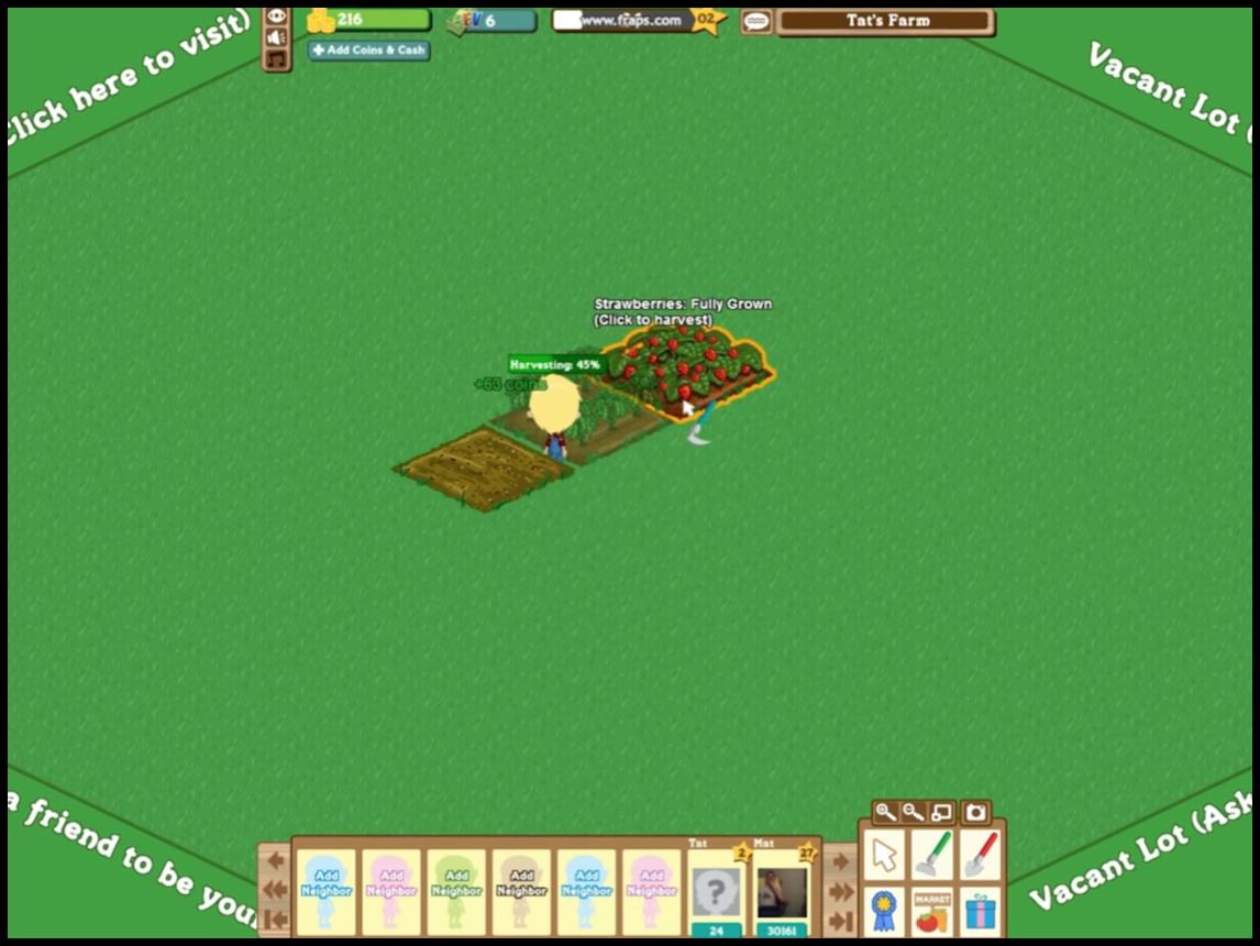 Harvest in Farmville Game