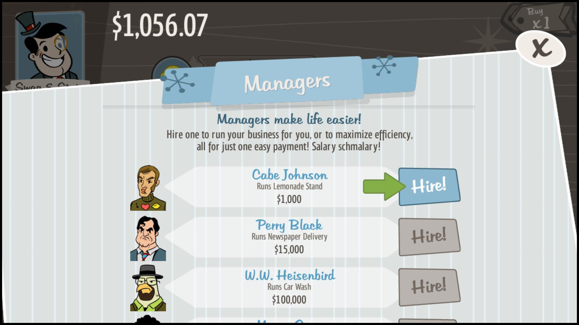 Adventure Capitalist Manager