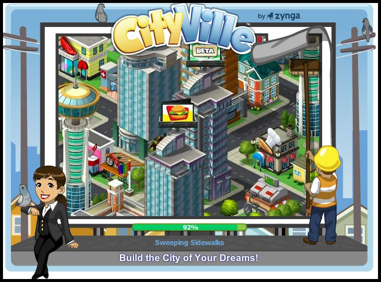 Cityville build the city of your dream loading screen