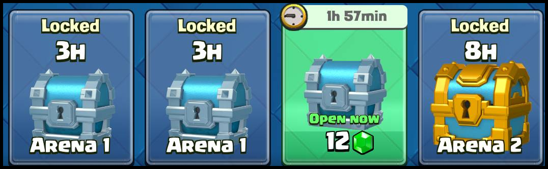 Clash Royale chests win or awarded chests