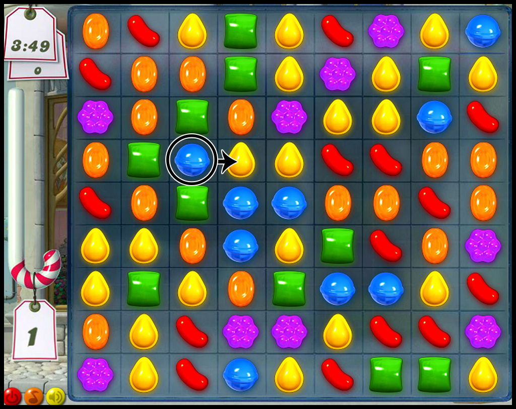 Successful game Candy Crush Gameplay