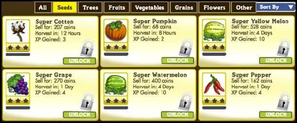 farmville-grow-crop-time-table