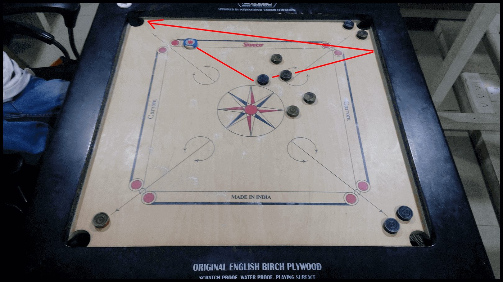 Carrom Game Trick view
