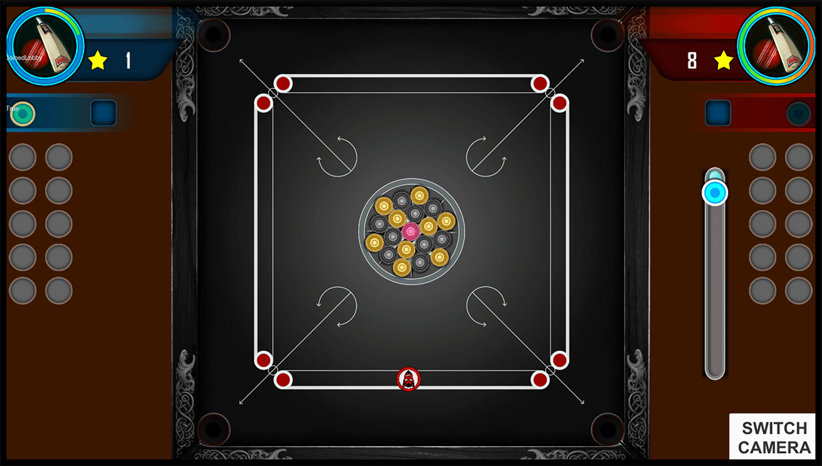 Virtual carrom board 2 in 2d