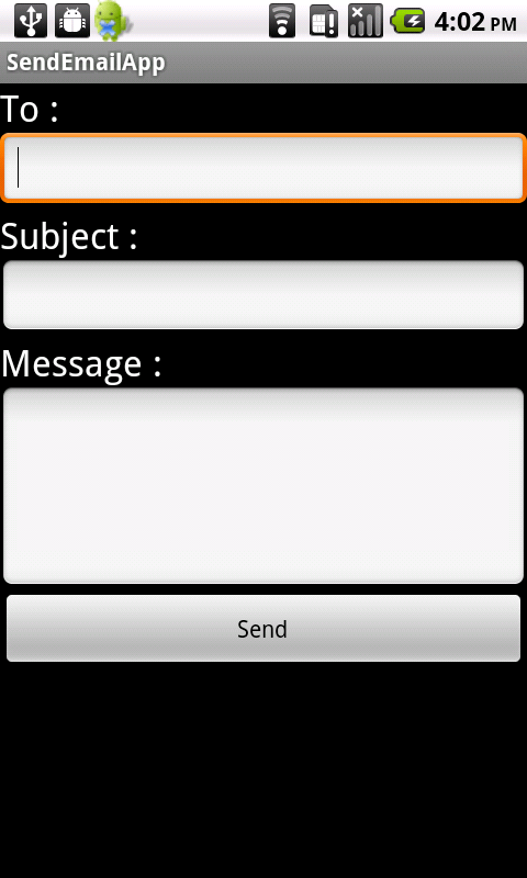 android send email using inbuilt app