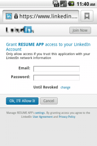 android linkedin connectiviy demo
