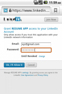 android linkedin connectiviy