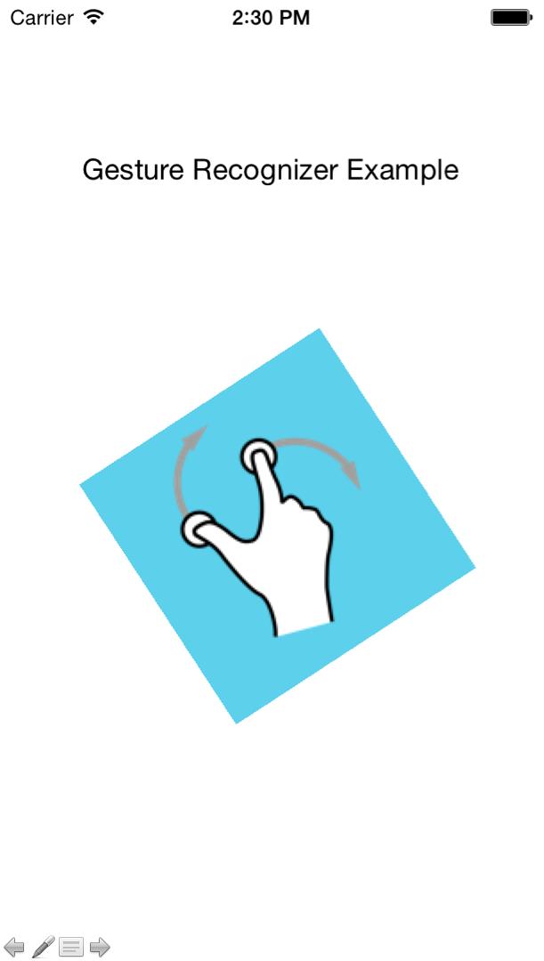 ui rotation gesture recognizer
