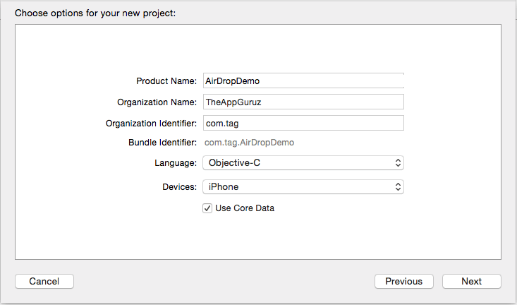 choose-options-for-new-project