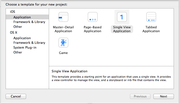 create-single-view-application