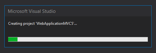 creating project mvc 5