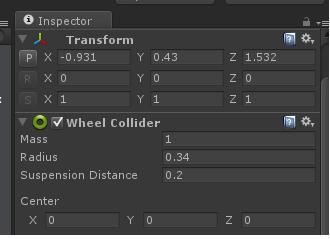 inspector wheel colliders