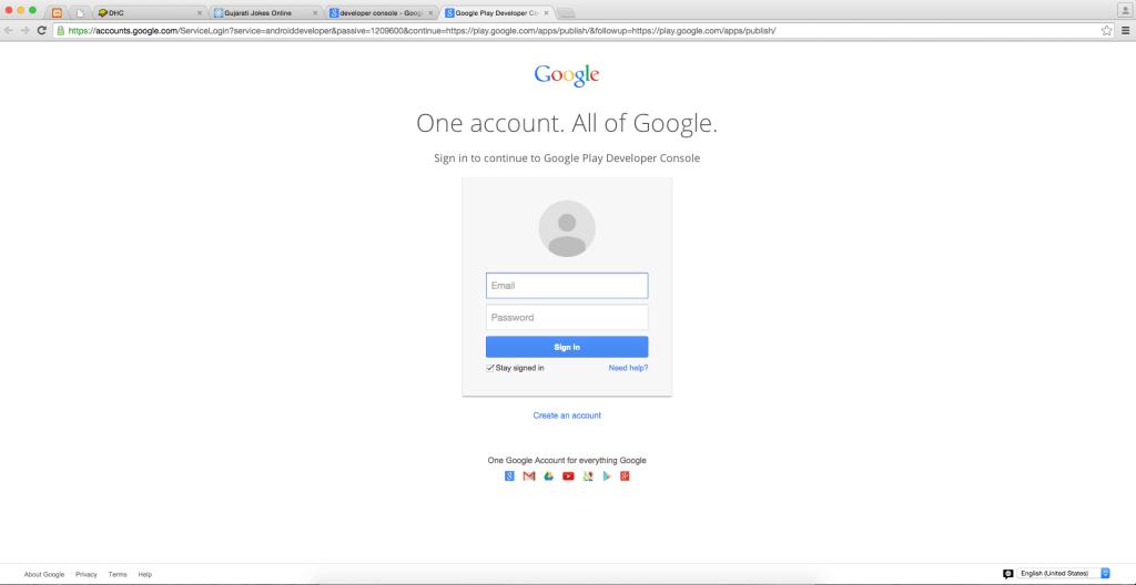 logging-into-google-developer