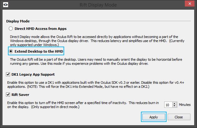 rift-display-mode