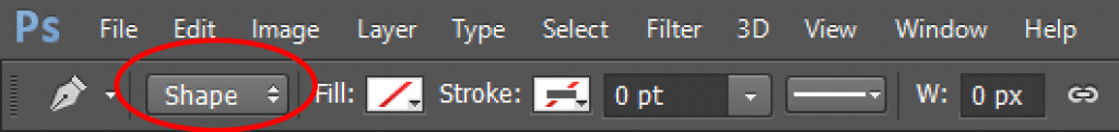 select-shape-from-the-options