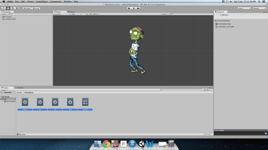 zombie animator controller