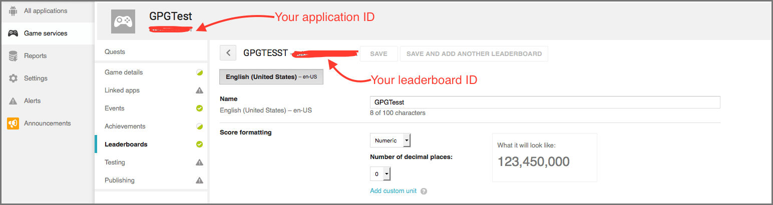 application-id-and-leaderboard-id