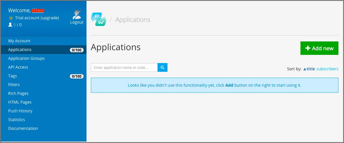 pushwoosh_applications