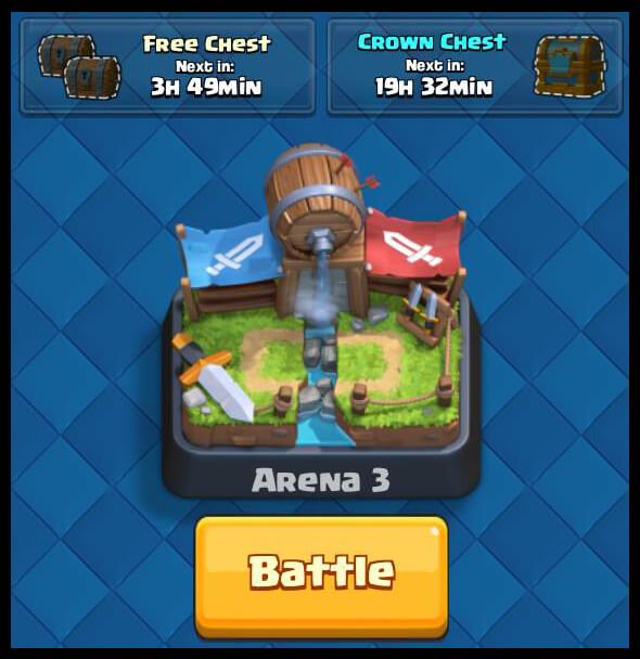 Clash Royale free chest after 4 hours
