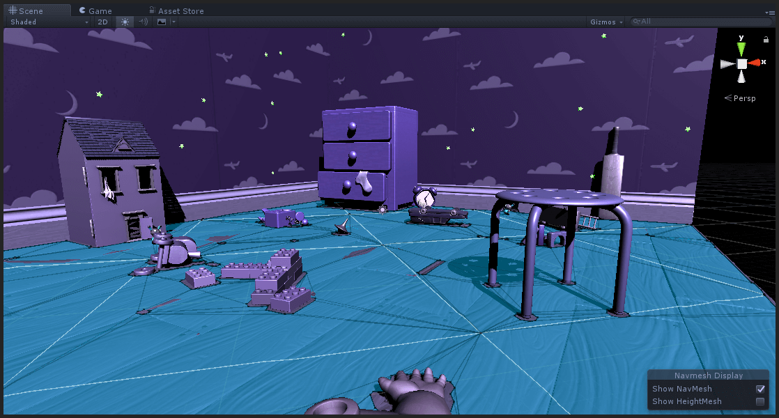 Environment with NavMesh