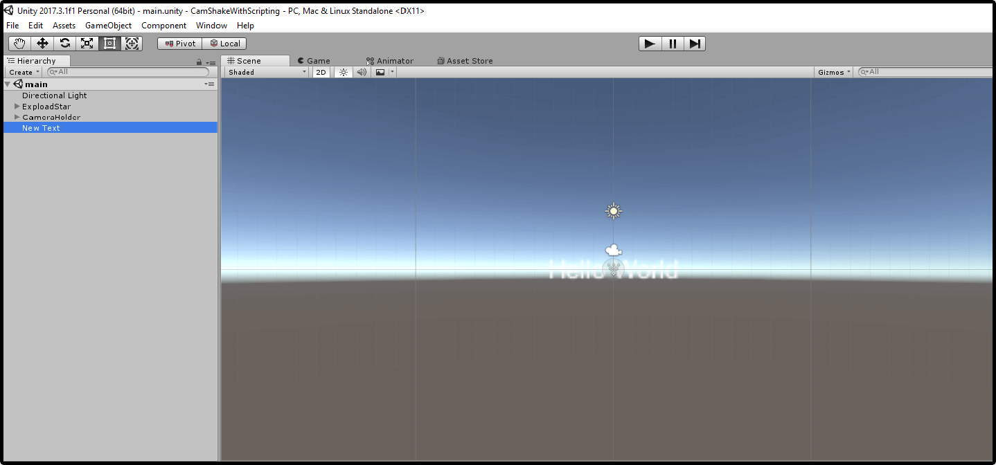 Gamasutra: Vivek Tank's Blog - Different Ways Of Shaking Camera In Unity