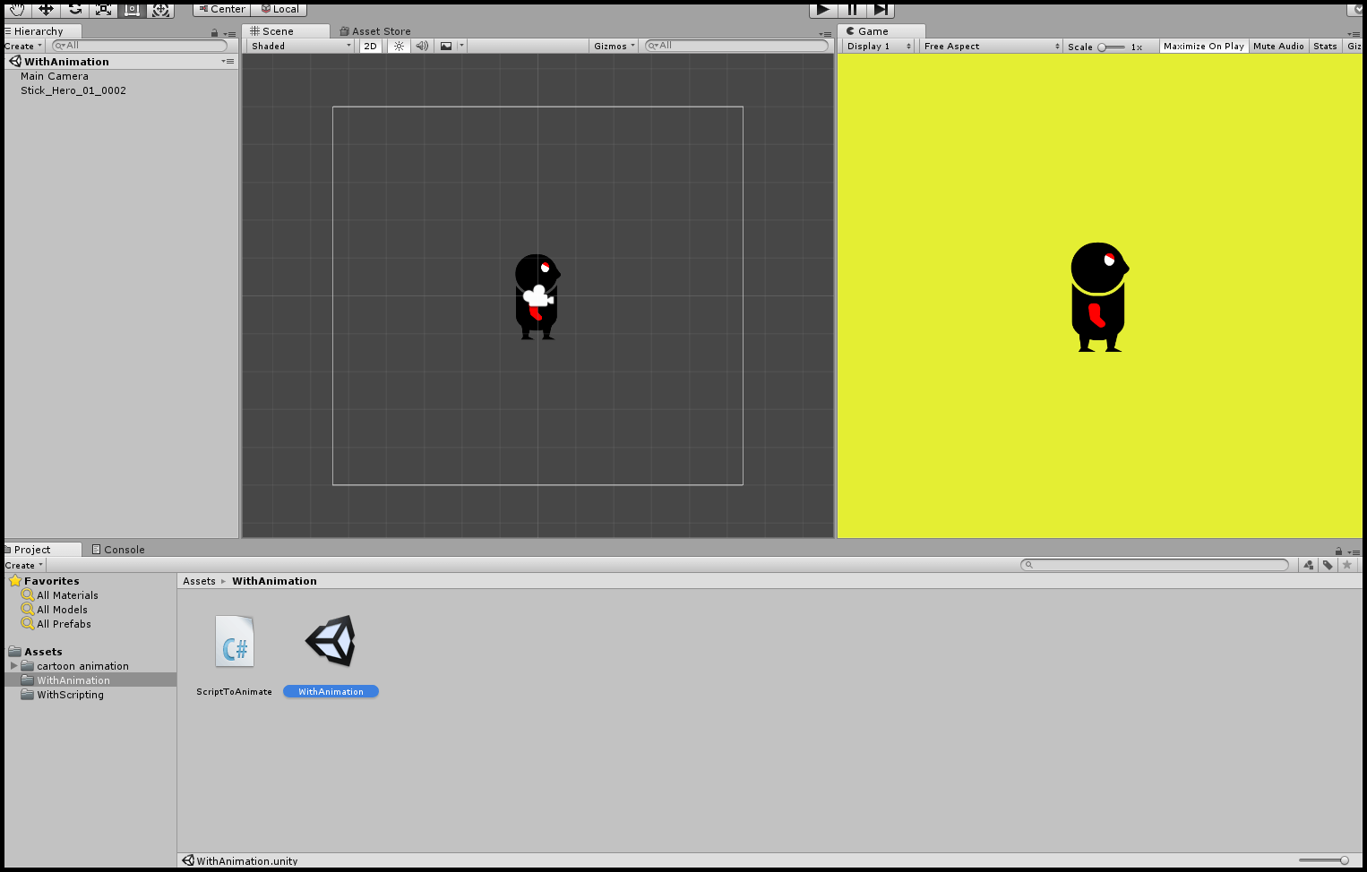 By animation and animator controller scean setup in Sprite Sheet Animation